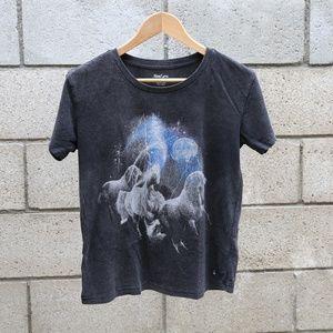 Women's Unicorn Tee Black